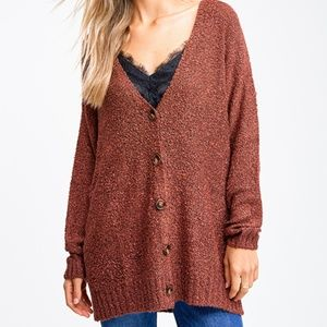 Boho Knit Button Up Sweater